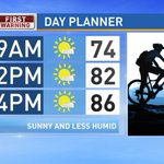 Under sunny skies, it will be less humid and pleasant today! #WakeUpRightCBS21 https://t.co/pTw6i0mppy