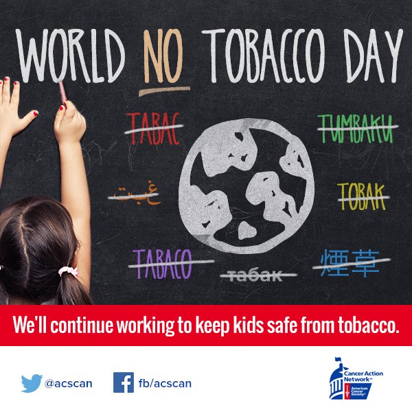 It's #WorldNoTobaccoDay! Join us working to keep kids across the world safe from tobacco https://t.co/FCYziK6bAi https://t.co/CsNAQ1k6sO