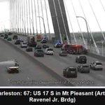 Increased presence, Right lane Ravenel Bridge towards Mt. Pleasant - not involving an accident -Use caution #chstrfc https://t.co/wNREXzN52u