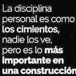 La disciplina personal es como los cimientos, nadie los ve, pero es lo más importante en una construcción. #yeswecan https://t.co/lp3pJaaSYx