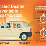 Heat-related deaths are preventable! Look before you lock! https://t.co/zlyH2ELORU #cawx https://t.co/syRHP8ZI2G