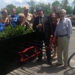 Mayor Burton & Councillor Robinson opened the new bike corral in @Bronte_Oakville #BikeMonth https://t.co/2pY8xlqf9q https://t.co/5AszlIEZVp