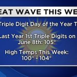 Get ready for the hottest day so far this year today! Hitting 100s a little earlier than we did last year. #cawx https://t.co/bl6KcZ8drW