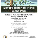 The Mayors Historical Picnic in the Park! #oakville #picnic #fun #sun #summer #spring #bronte https://t.co/t1FAoL6AhN