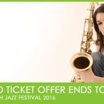The Scarborough Jazz Festival Earlybird ticket offer ends today! Beat the price rise!: https://t.co/emvNwtUeS5 https://t.co/ggtDr6CDKz