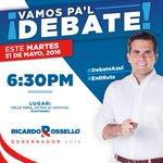 ¡Los esperamos hoy en la Calle Tapia, detrás de los estudios de @UnivisionPR! #DebateAzul #EnRRuta https://t.co/30zAYGVmmg