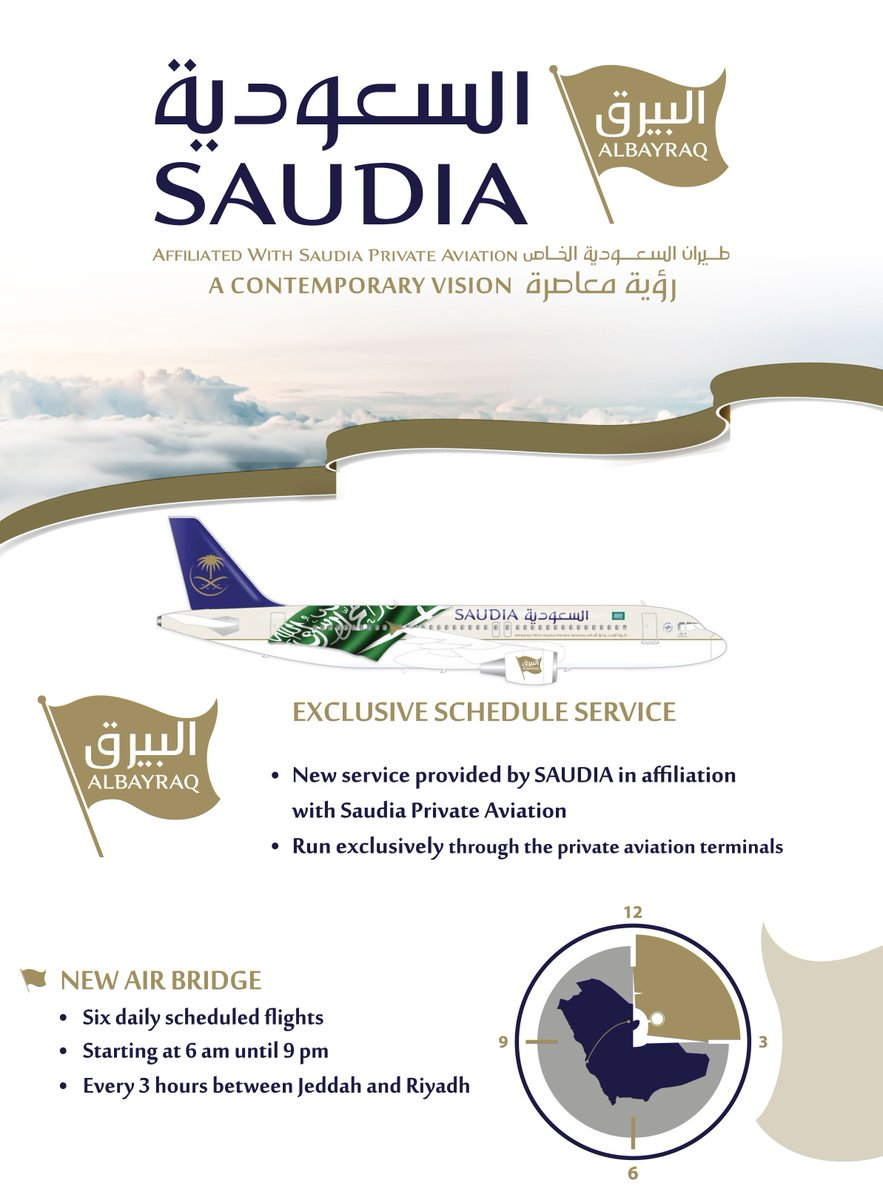 ALBAYRAQ 6 daily flights between Jeddah and Riyadh each way starting from 1 June  Find