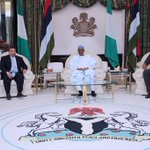 Today, President Buhari received the Special Envoy of the King of Jordan, Mr Manar Dabbas at the State House, Abuja. https://t.co/SwUoPlc1iU