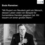 """Thüringen trauert um Rupert #Neudeck. @bodoramelow """"Sein Leben gab vielen Beispiel für humanitäres Handeln."""" https://t.co/PDkcbuGW8O"""
