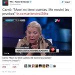 """Carrió:""""cuando dije Macri no tiene cuentas. Me mostró las pruebas. Claramente me refería a Antonia Macri"""" https://t.co/95Tq9PNkm4"""