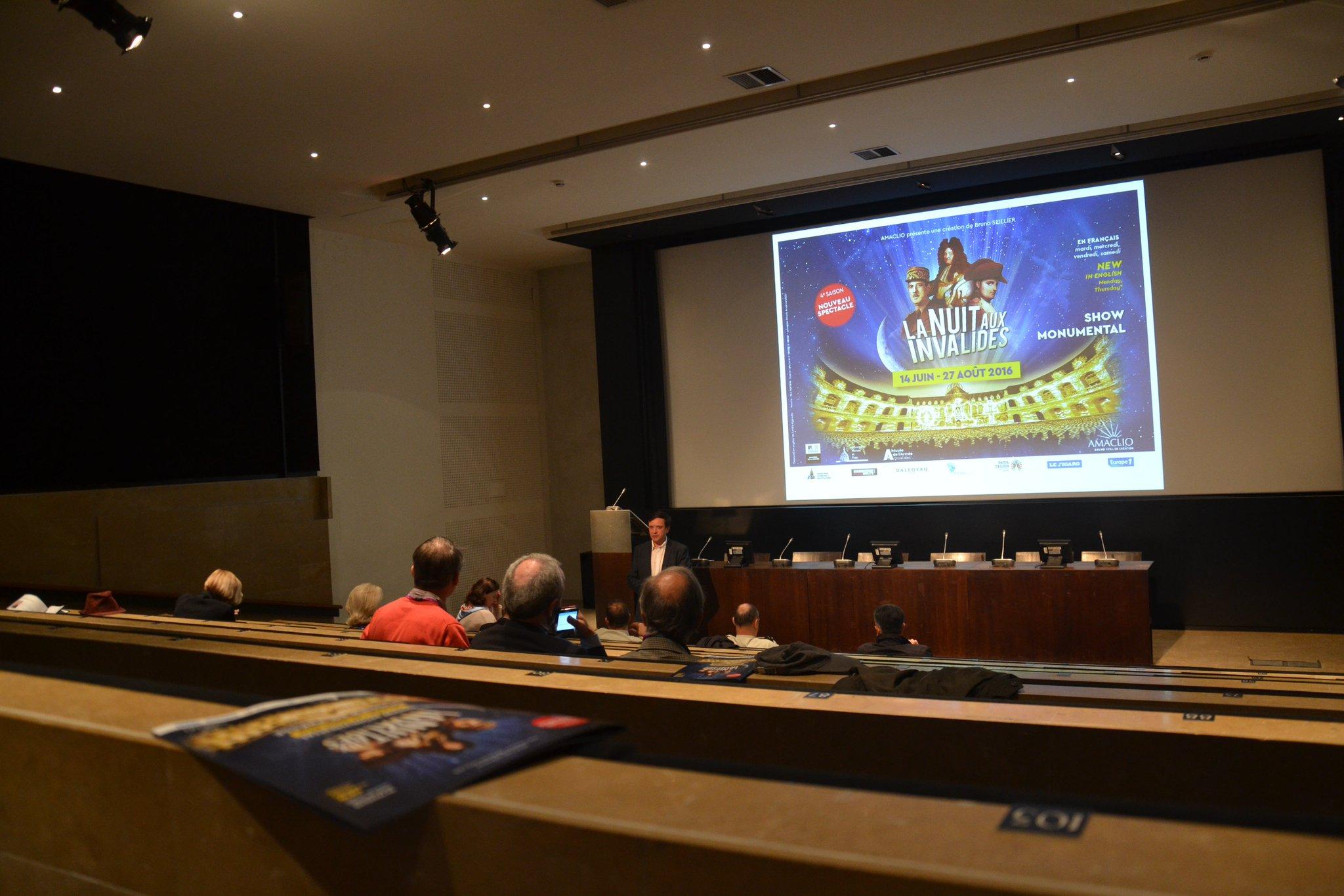 """La conférence de presse pour <a href=""""https://twitter.com/NuitInvalides"""" target=""""_blank"""">@NuitInvalides</a> s'est tenue ce matin au <a href=""""https://twitter.com/MuséeArmée"""" target=""""_blank"""">@MuséeArmée</a> <a href=""""https://t.co/MzzZhbjrnE"""" target=""""_blank"""">https://t.co/MzzZhbjrnE</a>https://t.co/QYhlEASSf1"""