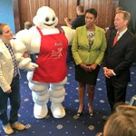 Mayor Bowser meets the Michelin Man. The Michelin guide to restaurants comes to Washington, DC on October 13, 2016. https://t.co/G7O3d74IBy