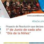En sesión del Pleno @AsambleaEcuador tratamos resolución para declarar el 1° de Junio #DiaDeLaNiñez @GabrielaEsPais https://t.co/aB9RHQM4VZ