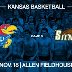 #kubballs regular season home opener is against Siena ???? Friday, Nov. 18 ???? Allen Fieldhouse https://t.co/3z3M6bEGOU