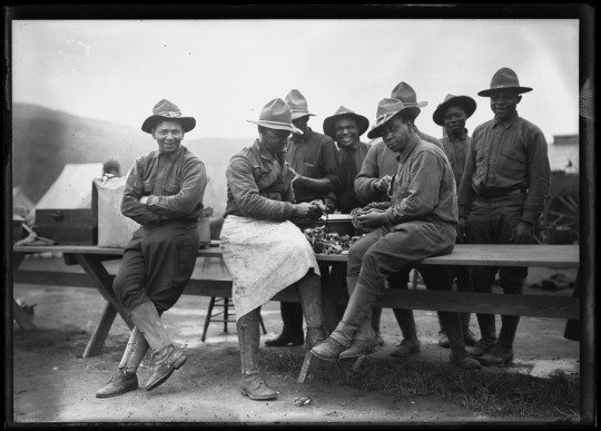 More than 200,000 African Americans served during WWI, predominately in segregated service units.  Image c. May 1917 https://t.co/lX05fo7N95