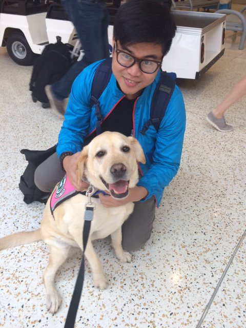 Say hello to Giada! She was at IAH today helping to relieve passenger stress. Learn more at: