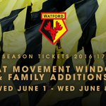 SEASON TICKETS: Seat Move Window opens 9am tomorrow for 2016/17 #watfordfc ST holders. Info: https://t.co/s8Gdq7nhs9 https://t.co/EAru2YqZ7T