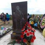 В Геническом р-н установили памятник погибшему в АТО В.Волкодаву. Приобретен за личные средства главой администрации https://t.co/p6V06JL26P