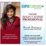 """Les invitamos a participar en el Taller """"Imagen y Actitud Profesional"""" por  Marcela Dominguez #ExpoTurismoSantiago https://t.co/jv7S34eAcI"""