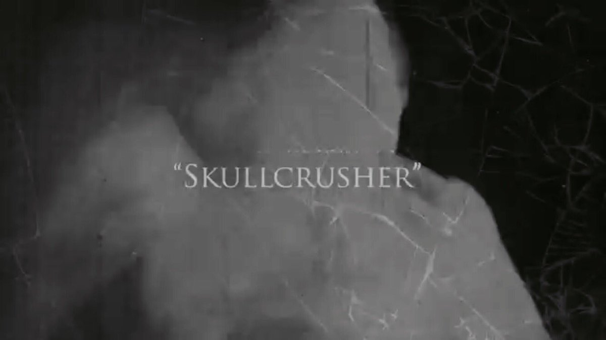 """The lyric video for """"SKULLCRUSHER"""" off of our new album, This is Where Death Begins, is out now! Go check it out."""