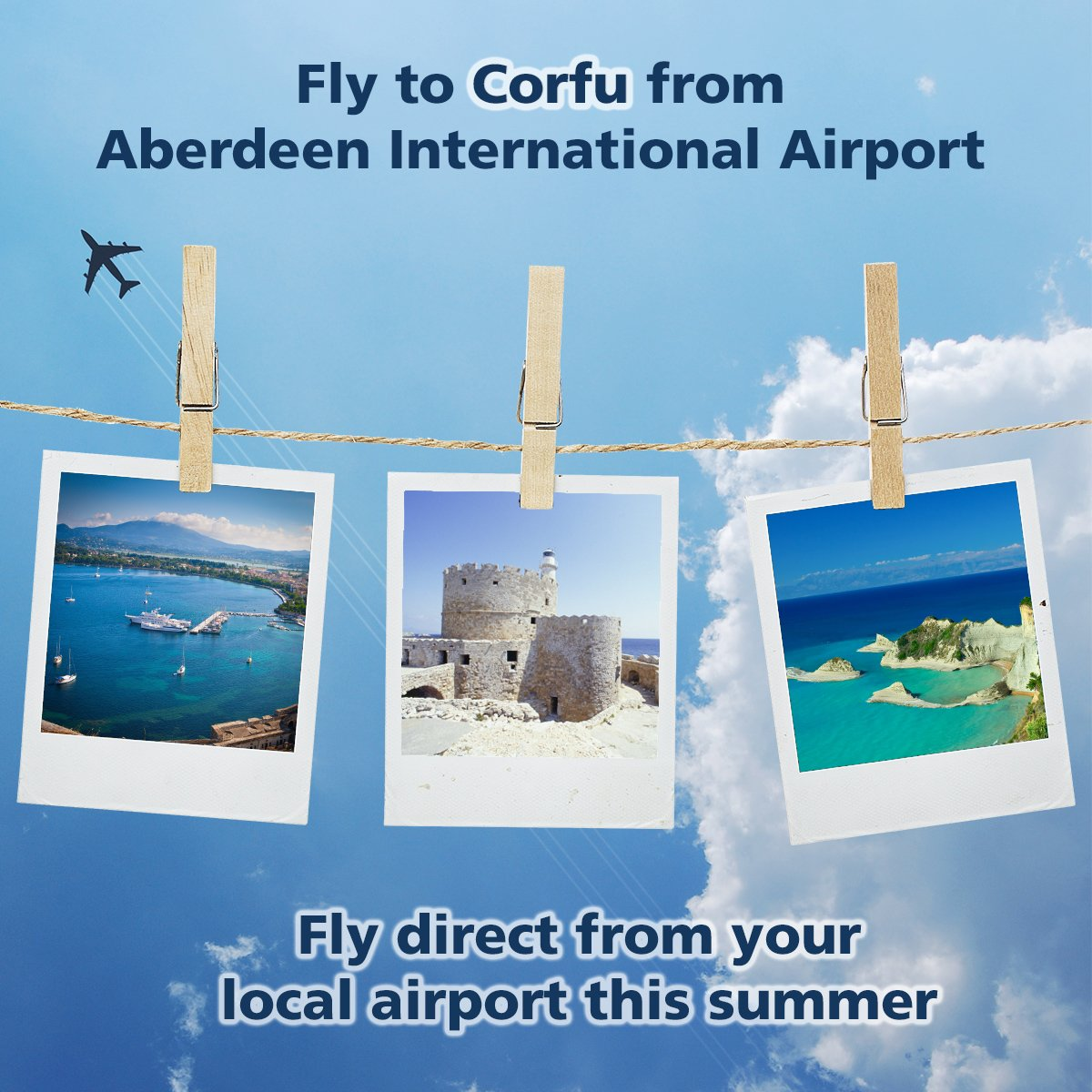 Fly direct to Corfu from your local airport this summer!