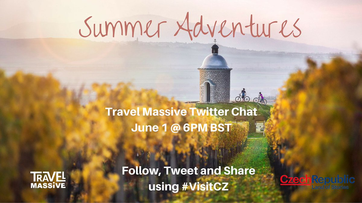 RT @travelmassive: Join us for VisitCZ Twitter chat tomorrow w/ @CzechTourism