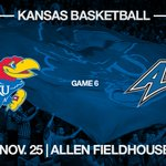 #kubball hosts UNC Asheville during Thanksgiving week ???? Friday, Nov. 25 ???? Allen Fieldhouse https://t.co/78K0rvPMeh