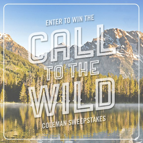 Submit at https://t.co/ENK17Lh8zV to win a 5-day trip to the outdoors and Coleman gear. #CallToTheWildSweepstakes https://t.co/a4YLxawKIk