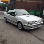 A very tidy Renault 19 Cabriolet in for repairs. #renaultspecialist #leeds https://t.co/iOm4wKMfSi