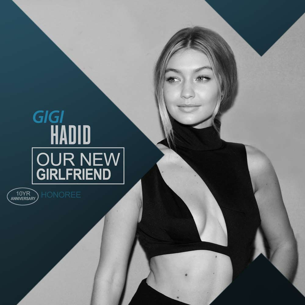 .@GiGiHadid is this year's #GuysChoice 'Our New Girlfriend' honoree. Watch the show on June 9th. https://t.co/NqGJpWubuE
