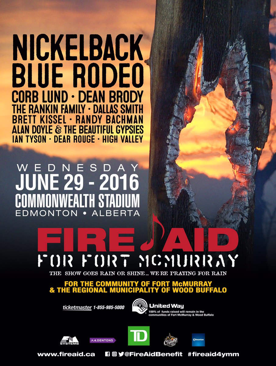 Please help out Fort McMurray. You can go to a show, donate, share. It all helps https://t.co/9jnfmS2MWs https://t.co/5V34kmE7sc