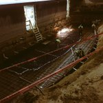 Sparks flying #mahafamily #fixitintheremodel rebar for foundation in pit is happening https://t.co/0zxpezzGdc