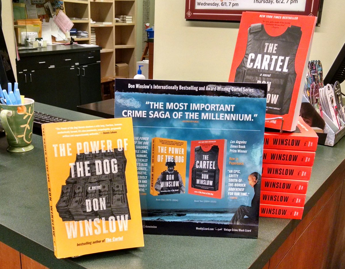 Cartel by #DonWinslow is out in paperback today! We're big fans of these two over here! @VintageAnchor https://t.co/CAVG81o9EW