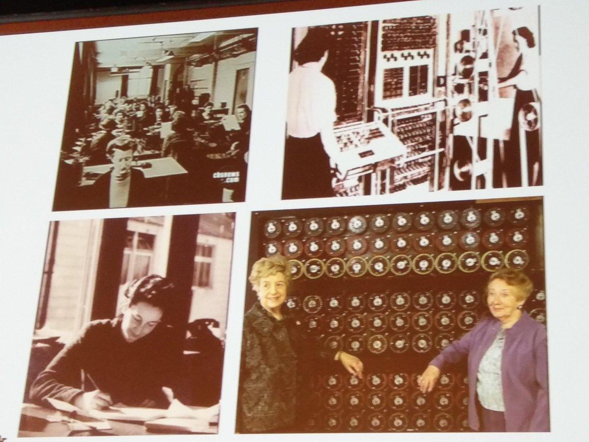 .@Dr_Black: of the 10k people working at Bletchley Park in WW2 ~8k were women   #womenintech #RelateLive https://t.co/onKtrpkRev