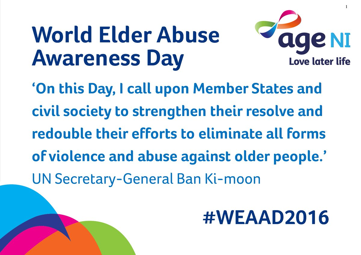 Today is World Elder Abuse Awareness Day https://t.co/88EgMOgfpK #WEAAD2016 https://t.co/a3jmxLxJNE