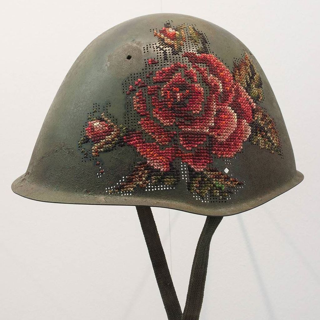 "Brand new work from @severija_incirauskaite - ""Kill for Peace"" (2016)  Soldier's helmets, … https://t.co/hEHxqjBxDX https://t.co/crd2yjKS4Y"