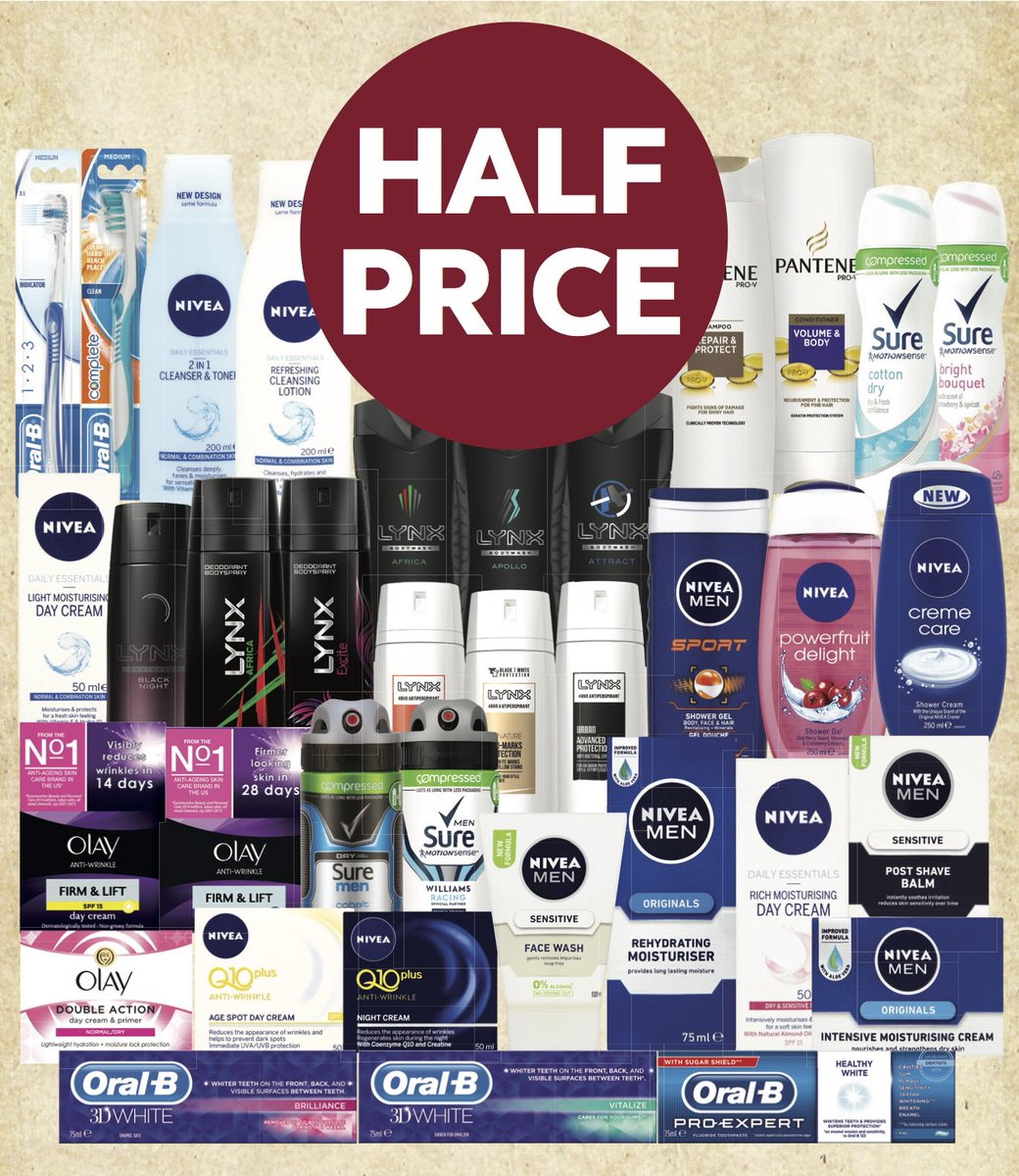A must for the weekly shop with great value on personal care in store... selected products half price! https://t.co/3J7t2qNuv3