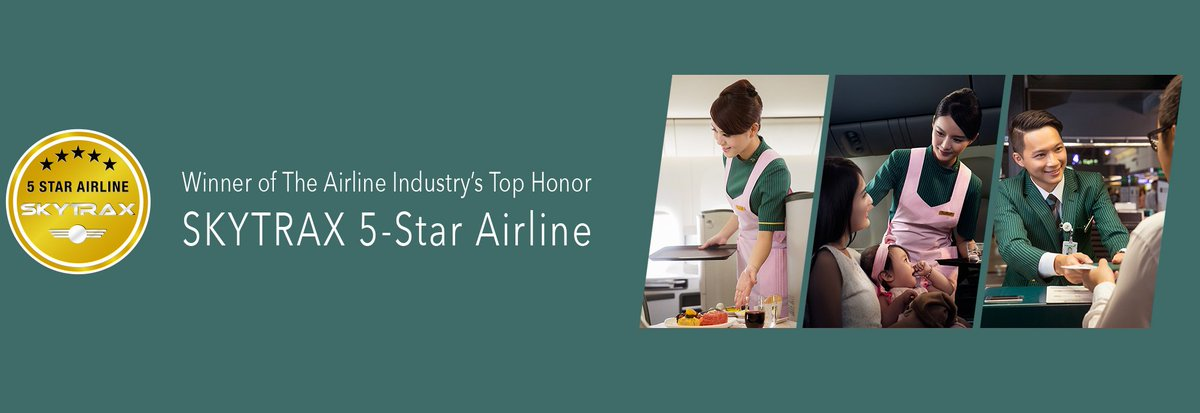 "Member @EVAAirUS received its first ""5-Star Airline Ranking"" by Skytrax. Congratulations!"