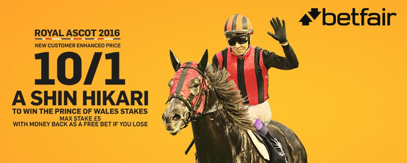 New Betfair customers can get A Shin Hikari (8/13) at 10/1 to win today!  Sign up here > https://t.co/Nyq1Raem2w https://t.co/dPs6QYJiuR