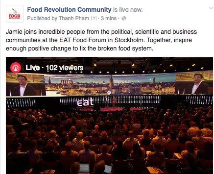 RT @FoodRev: .@jamieoliver is @EATforum talking about the #FoodRevolution. Watch LIVE at https://t.co/yq20VUK7vO https://t.co/CRgUwKoJpn