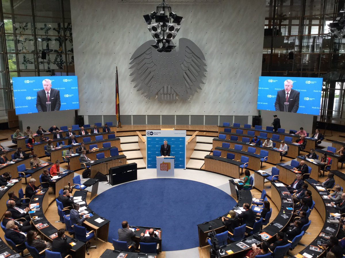 The end of the freedom of expression stands for the end of democracy, says Peter Limbourg #dw_gmf https://t.co/sDWc3TJ66H
