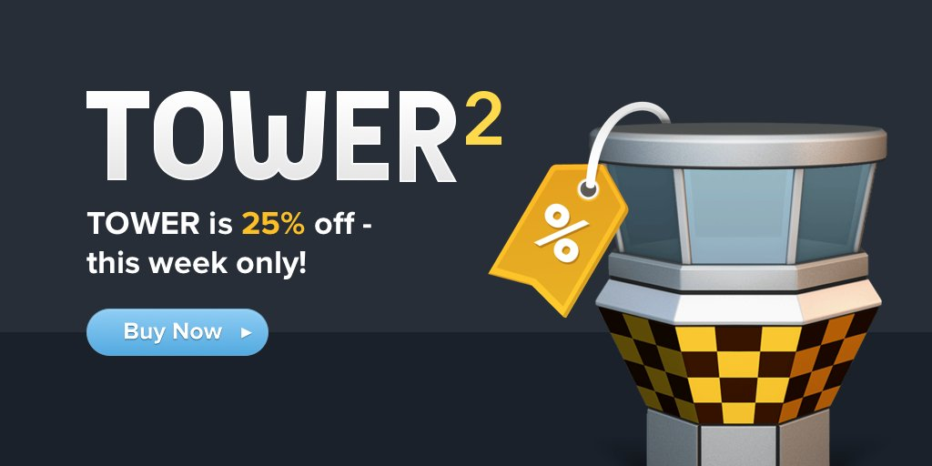 Tower is on sale during WWDC! Buy now and save 25%! https://t.co/VE4CTNvzt6 https://t.co/xoBHft9tfr