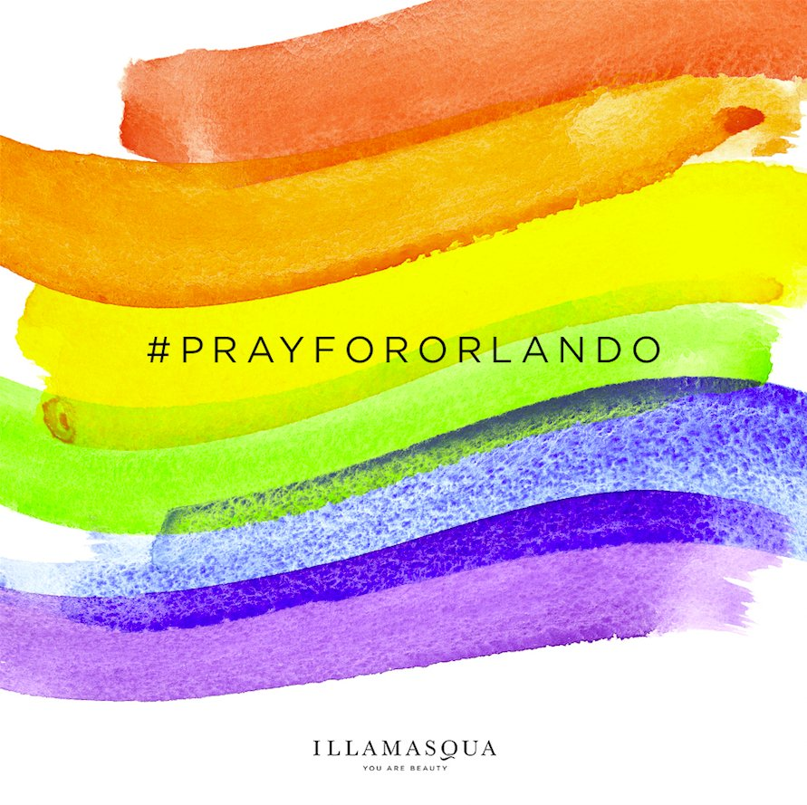 We are with you & stand strong to celebrate beauty in all its forms. Equality, love, respect. #prayfororlando https://t.co/c6nrEIz6q7
