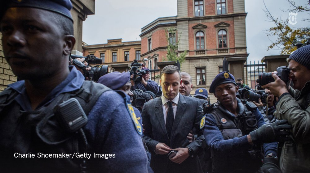 Oscar Pistorius appeared in a court in South Africa to await his sentencing for murder