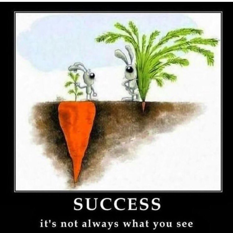 Success..... it's not always what you see. https://t.co/jZ8CTmuu5Z