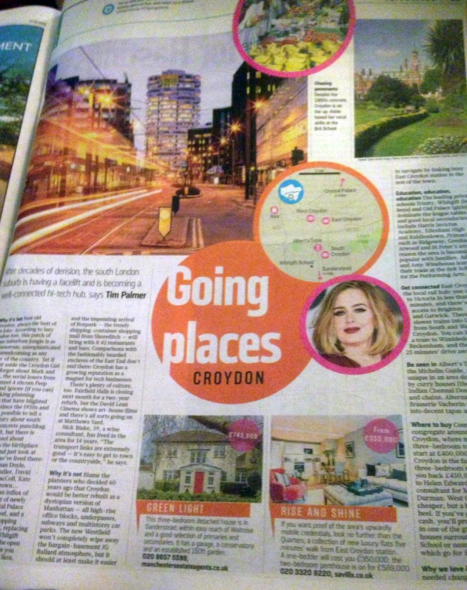 #Croydon is going places (but we knew that already) - Great piece about a great place in yesterday's @thesundaytimes https://t.co/D2A9nLunPE