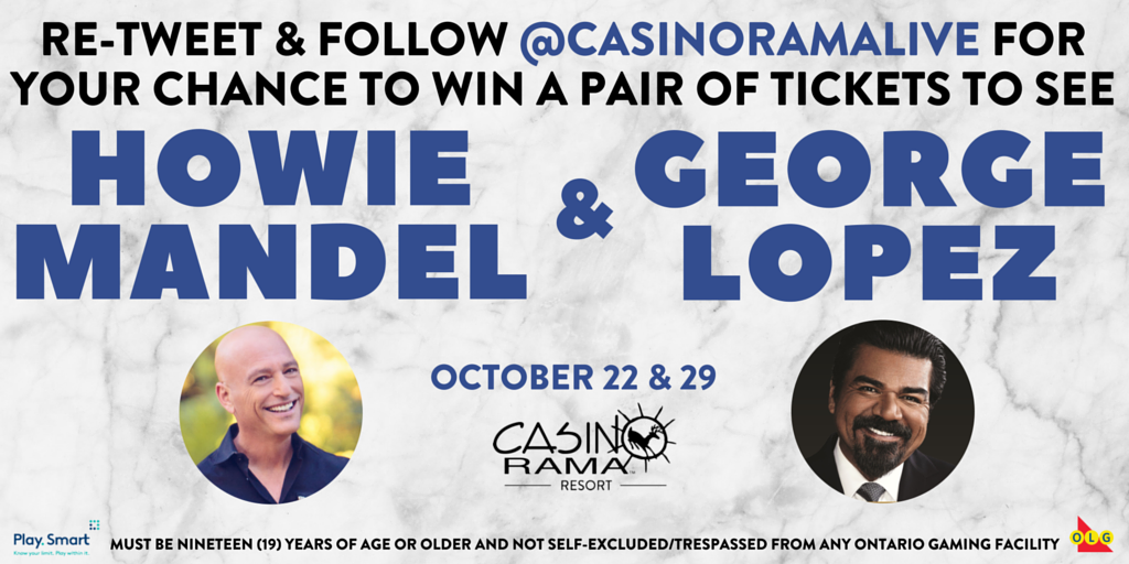 You could be laughing with @howiemandel & @georgelopez in October! #ramarocks Read rules: https://t.co/Uuf5BAbOSh https://t.co/rfvuvO0FNH