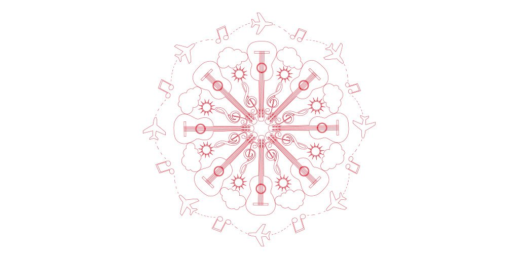 A ✈ in love with a 🎸: laguitarravuela Download the mandala!👉 🎨