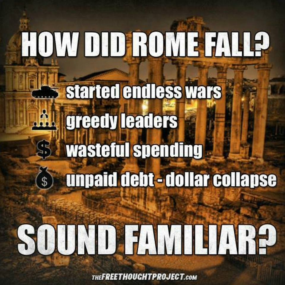 Sticking my neck out here but I'm pretty sure the Roman Empire didn't fall because of a collapse in the dollar https://t.co/RuB9HjZwO0