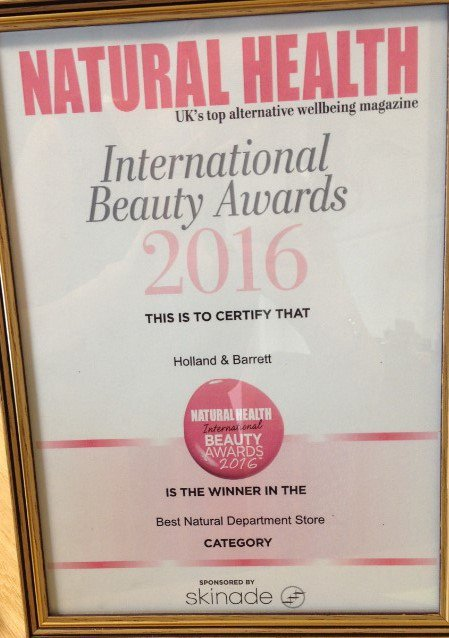 We came on top for @natural_mag International Beauty Awards - Best Natural Department Store. Thank you everyone! https://t.co/Csvfwvwmi6